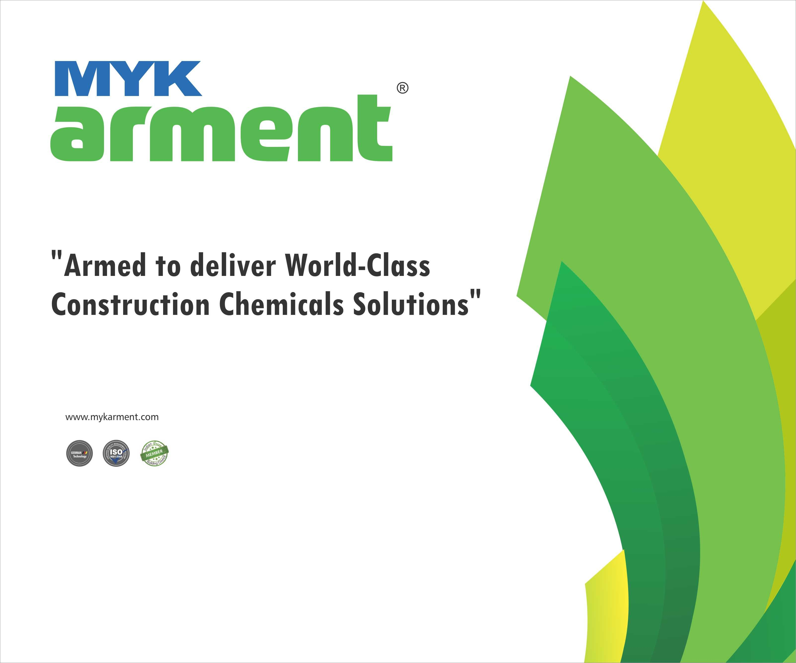 MYK ARMENT - MYK SCHOMBURG INDIA P. LTD - CONSTRUCTION CHEMICALS